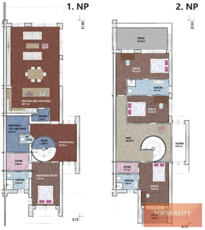 Topreality Rs.sk ModernÝ NadČasovÝ 5 IzbovÝ RodinnÝ Dom úžitková Plocha 280 M2 Pozemok 700 M2 Voderady 5