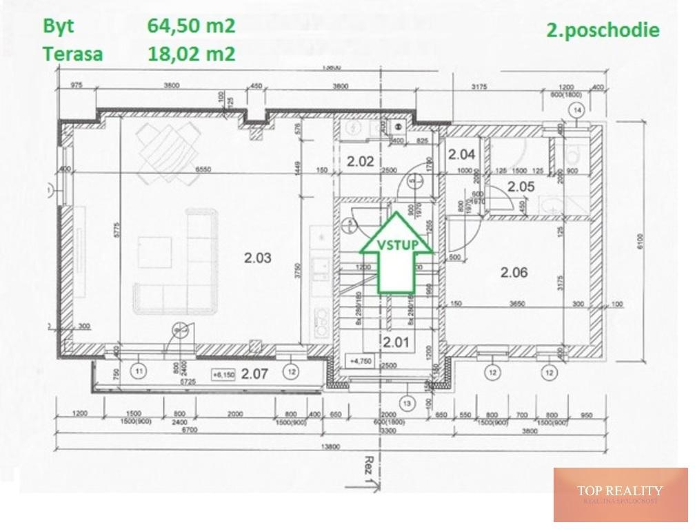 Topreality Rs.sk Novostavba 2 Izbový Byt 64 50 M2 Balkón Terasa 18 05 M2 Spolu 82 50 M2 Centrum Galanta 5