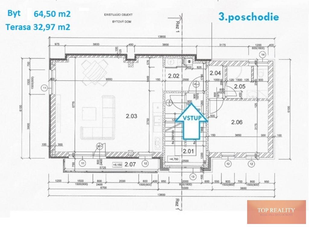 Topreality Rs.sk Novostavba 2 Izbový Byt 64 50 M2 Balkón Terasa 32 97 M2 Spolu 97 50 M2 Centrum Galanta 5