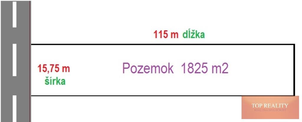 Topreality Rs.sk Veľký Stavebný Pozemok 1825 M2 15 7m X 115m V časti Nebojsa Galanta Dohoda 6